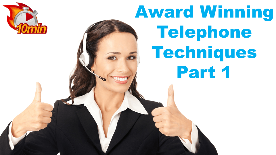 Award Winning Telephone Techniques Pt1 - Pluto LMS Video Library