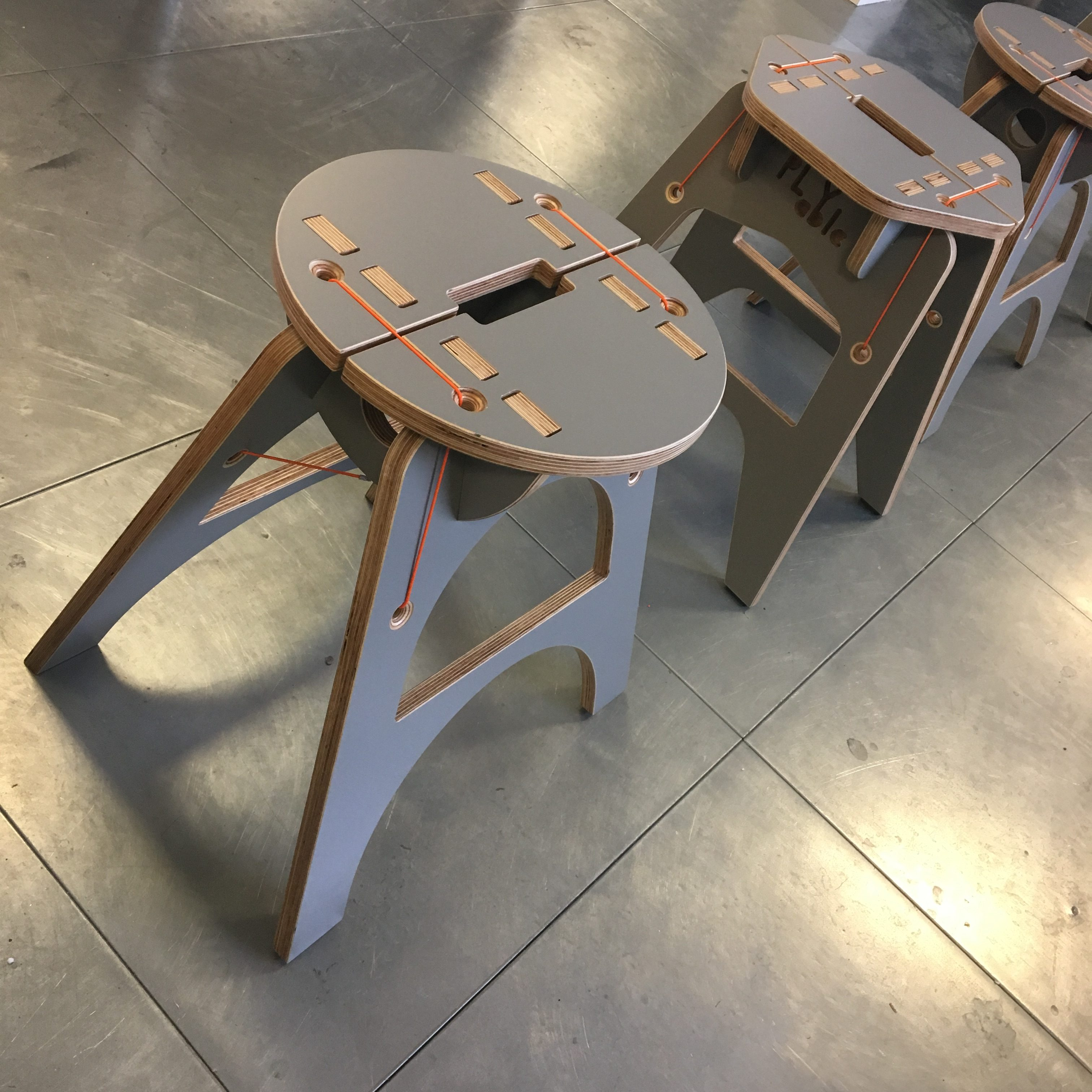 PLYable 15x8x4 Stool Plywood Furniture