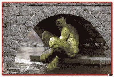 Тролли часто живут под мостами