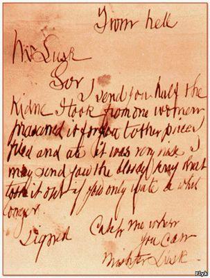 Письмо из ада Потрошителя