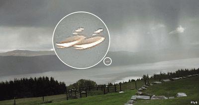 НЛО над озером Лох-Несс