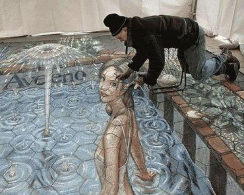 Замечательная подборка фото рисунков на асфальте