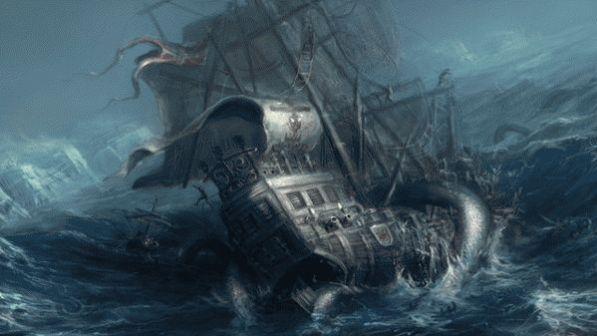 Морское чудовище кракен 4