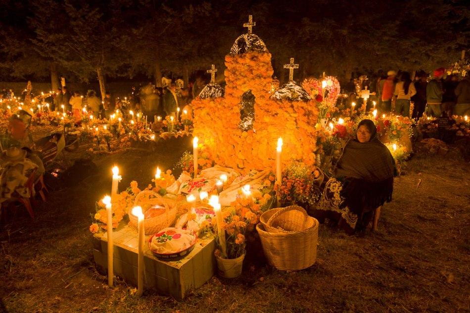 Dia de los Muertos кладбище