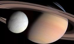 Сатурн и Энцелад