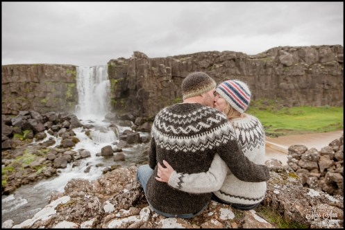 Iceland E Session Oxararfoss Waterfall Thingvellir National Park