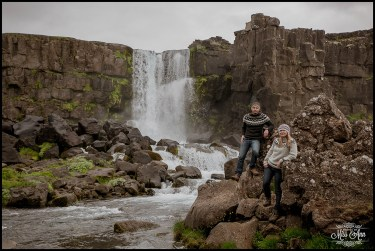 Iceland Pre Wedding Session Oxararfoss Waterfall Thingvellir National Park