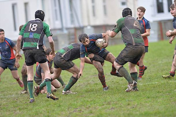 Devonport Services and Ivybridge's second teams in action at The Rectory (picture by Mark Andrews)