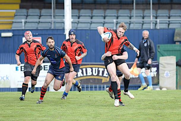 Plympton Victoria attack during the Ellis Trophy final (picture by Mark Andrews)