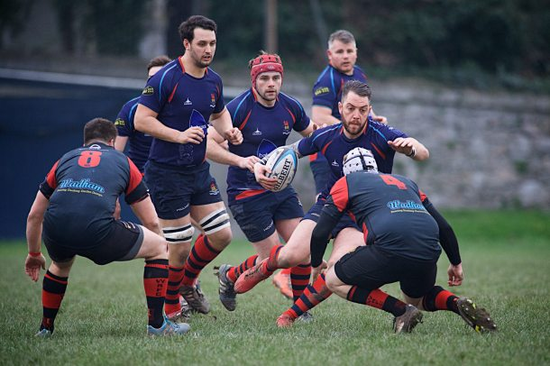 Devonport Services' Ben McGowan in action against Wellington (picture by Mark Andrews)