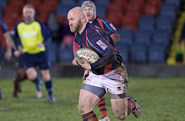 Steve Hodge in action on Wednesday night for Devonport Services (picture by Mark Andrews)