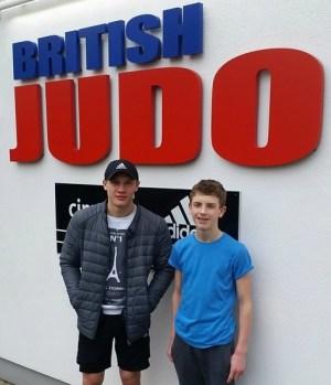 judo Adam Vosper and Lewis Widdicombe