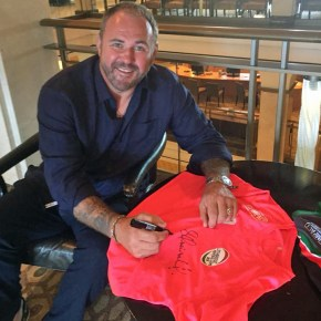 Wales and British Lions star Quinnell shows his support for Sunday's Paul Lethbridge Memorial Day