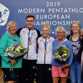 Plymouth pentathletes Pillage and Bryson win European mixed relay gold in Bath