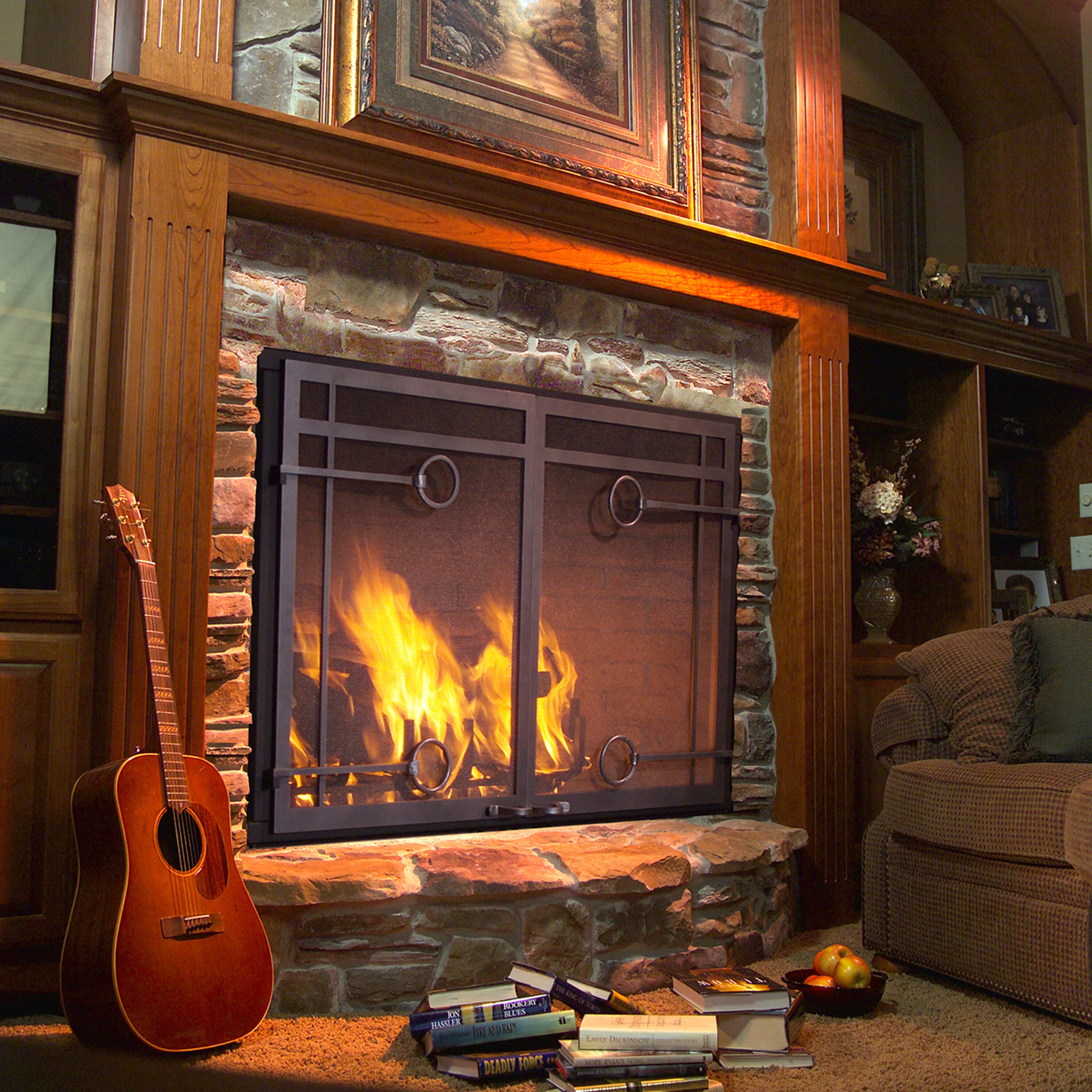 21 Modern Fireplace Glass Doors Design To Beautify Your