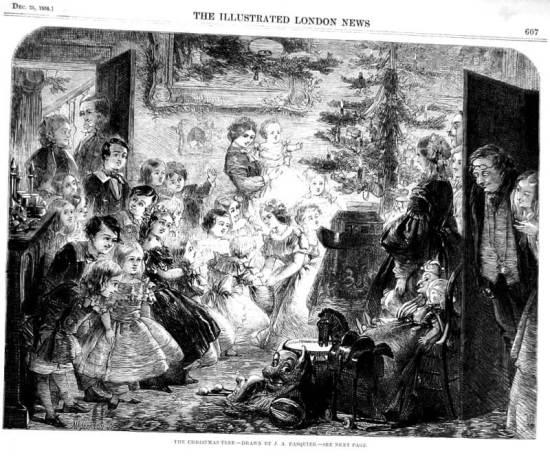 Oslava Vánoc vLondýně, rok 1858