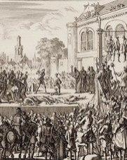 Výjev z popravy v roce 1621