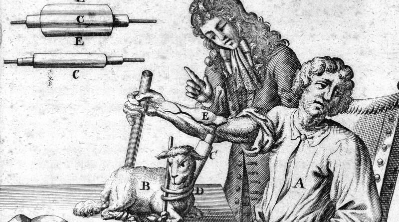 transfuze v roce 1667