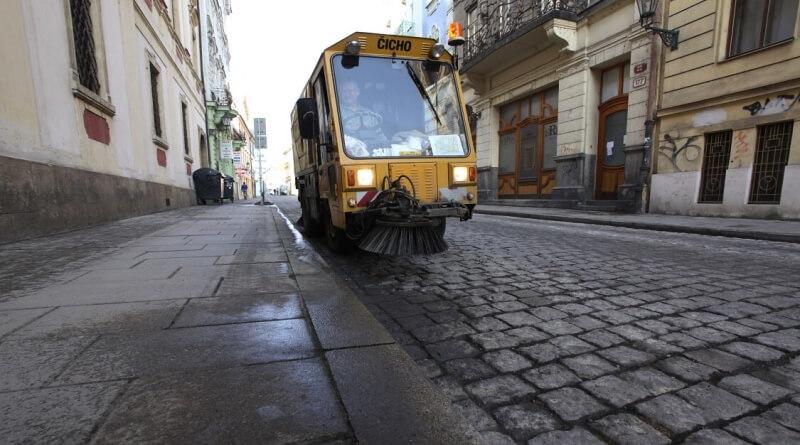 čištění ulice