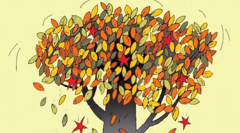 padá listí