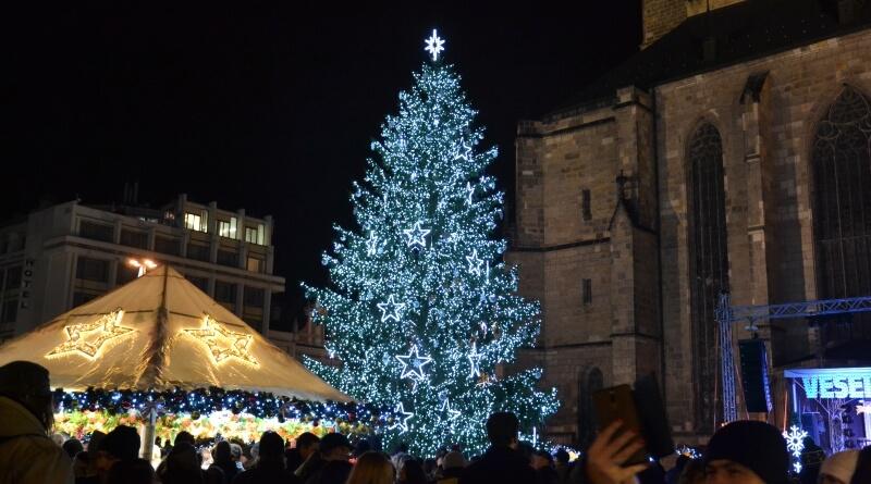 Vánoční strom Plzeň 2019