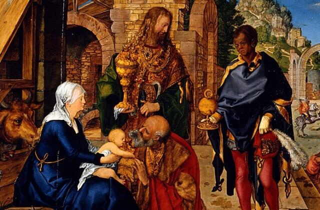 Albrecht Dürer - Klanění tří králů