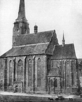 Arciděkanský kostel svatého Bartoloměje v Plzni 1856