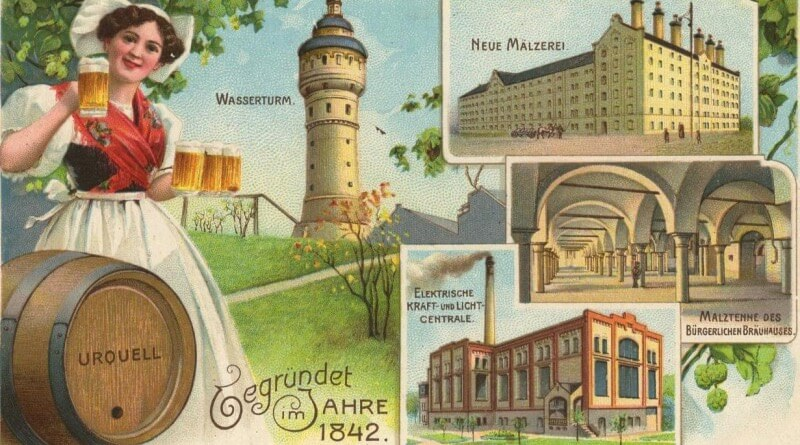 pohlednice pivovar plzeň