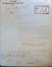 Dopis Reinharda Heydricha adresovaný Martinu Lutherovi. Zdroj: Volné dílo, Wikimedia