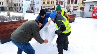 Stavba ledových soch