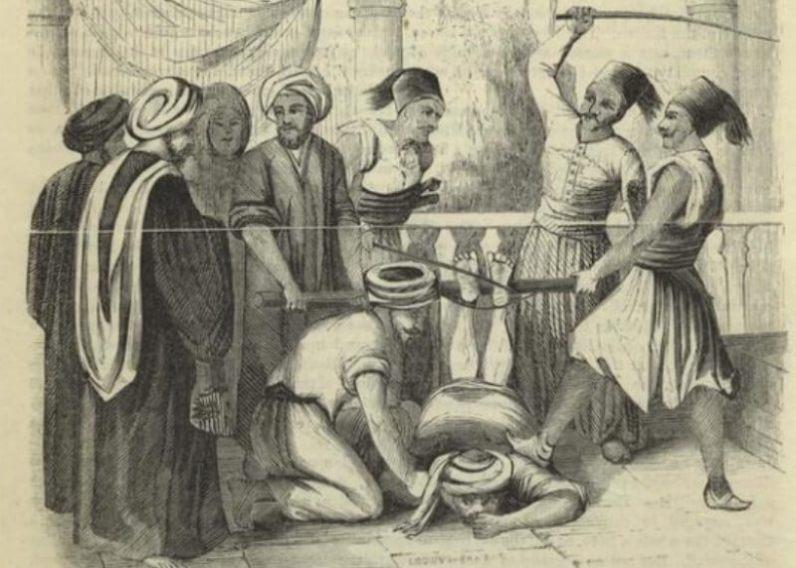 bičování chodidel