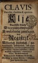 Titulní list Klíče