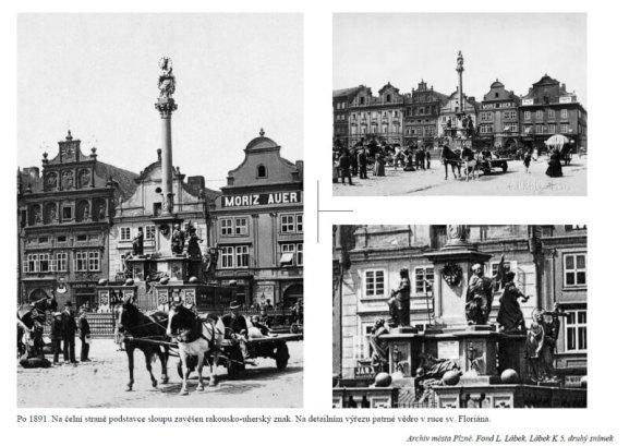 Morový sloup - historické foto
