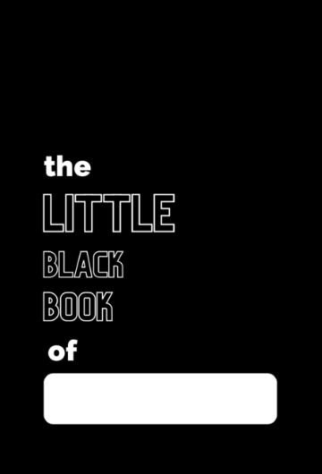 YOUR Little Black Book pocket notebook