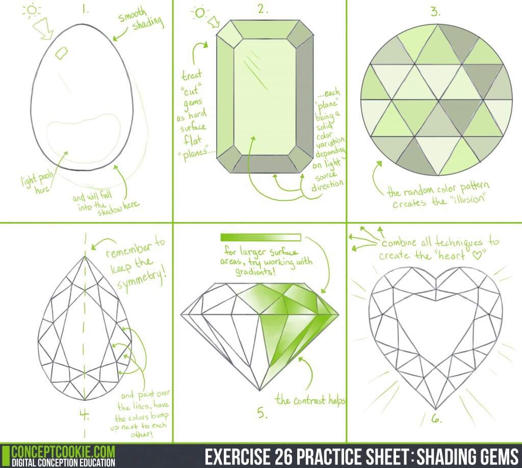 Drawing Gems And Stones