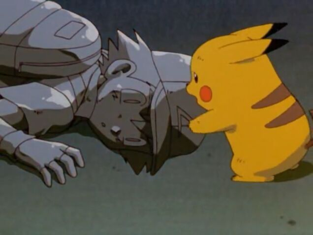 Image result for pokemon movie where ash turns to stone
