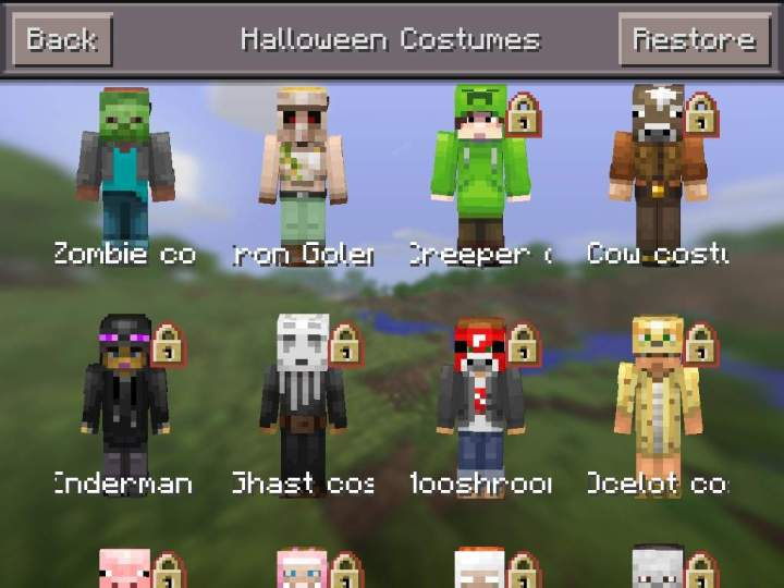 Mcpe Halloween Costume Skins Wallsviewsco - Skin para minecraft pe cow