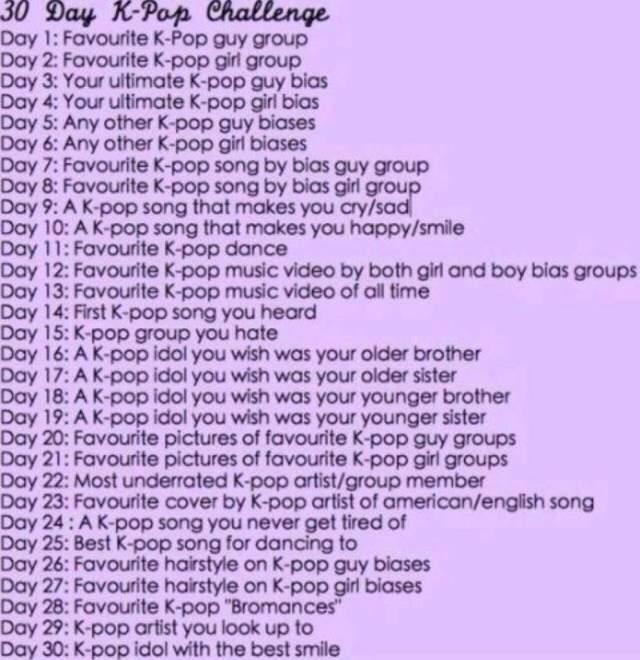 30 day challenge   k-pop amino