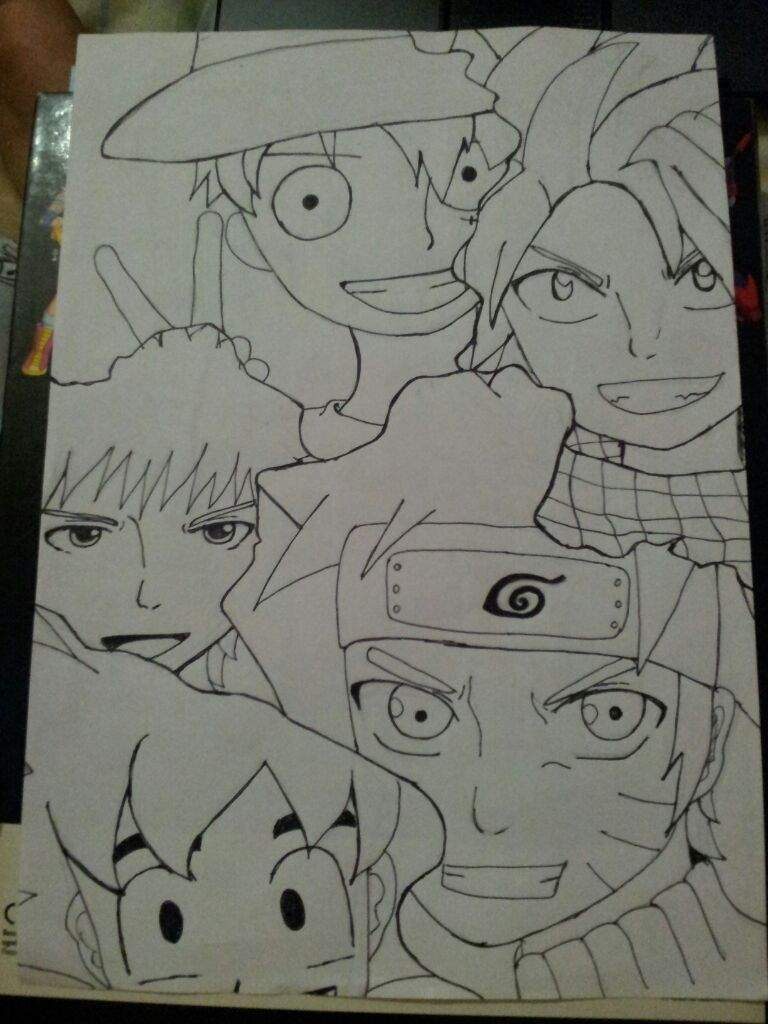 Check out our goku luffy naruto selection for the very best in unique or custom, handmade pieces from our shops. Drawing Of Luffy Natsu Naruto Goku And Ichigo Anime Amino