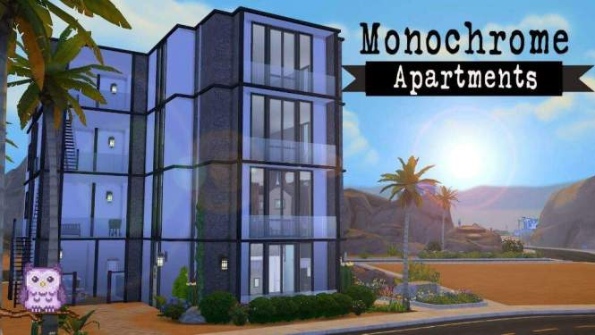 Monochrome Apartments Sims 4 Sd Build Amino