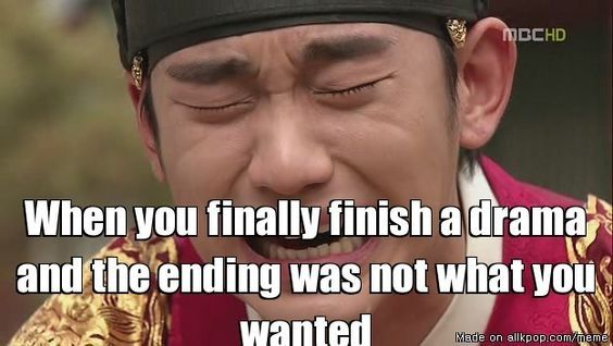Image result for Kdrama bad endings meme