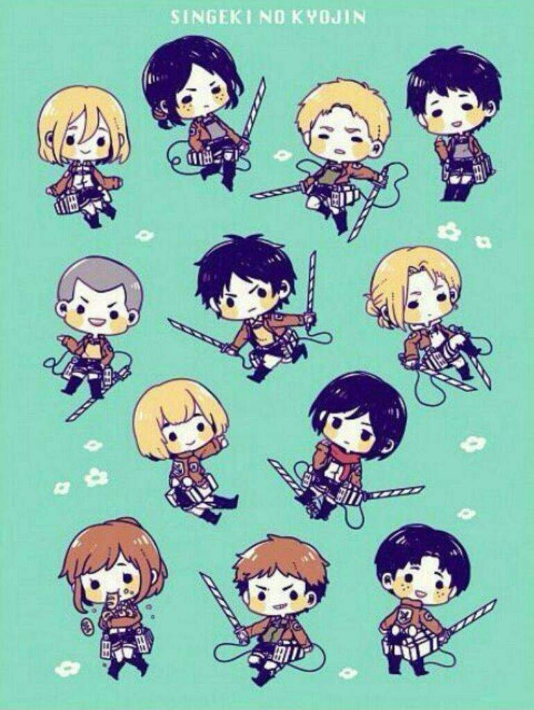 Here are the top five sexiest characters in the popular attack on titan anime series. Chibi Attack on Titan   Anime Amino