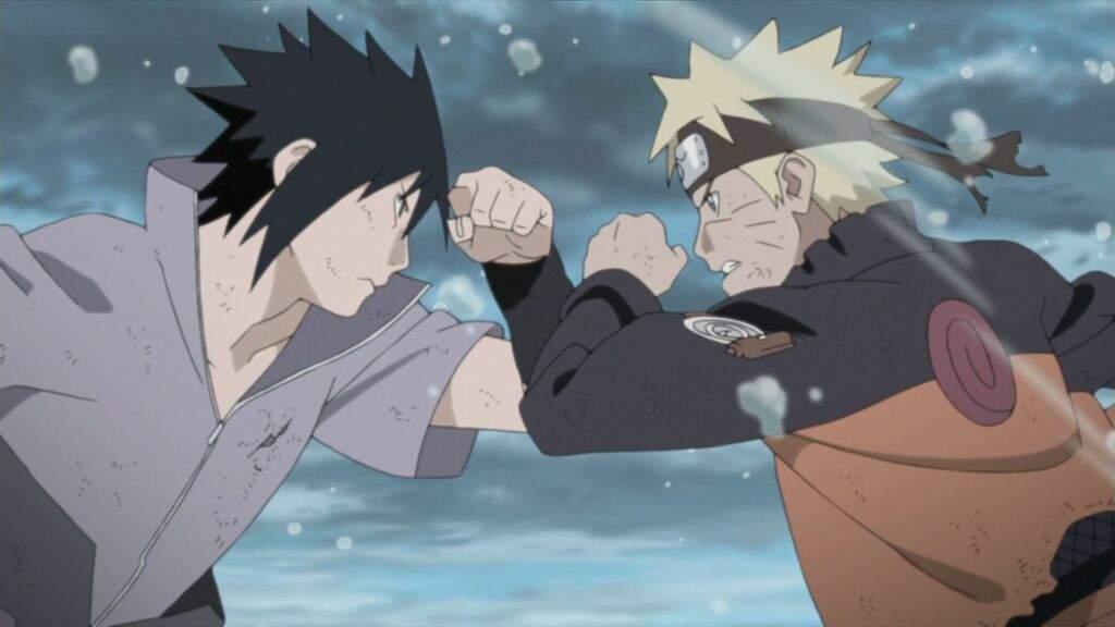 Image result for naruto and sasuke anime final fight