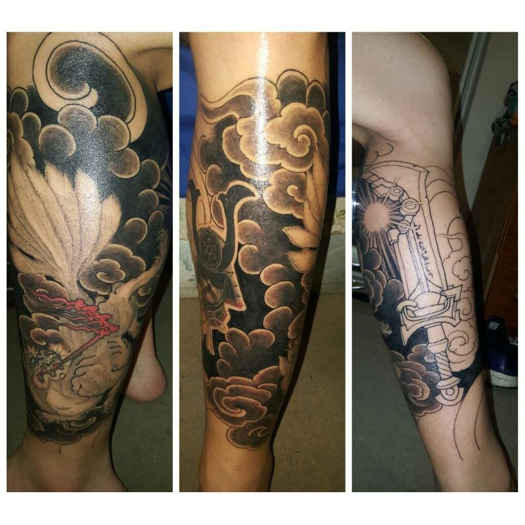 Ashbringer Leg Tattoo Sleeve