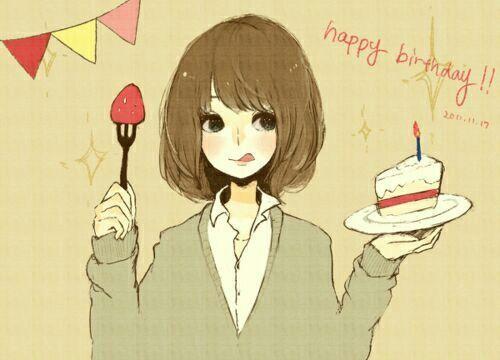 كلمة شكر لاصدقائي بمناسبة عيد ميلادي Anime Amino