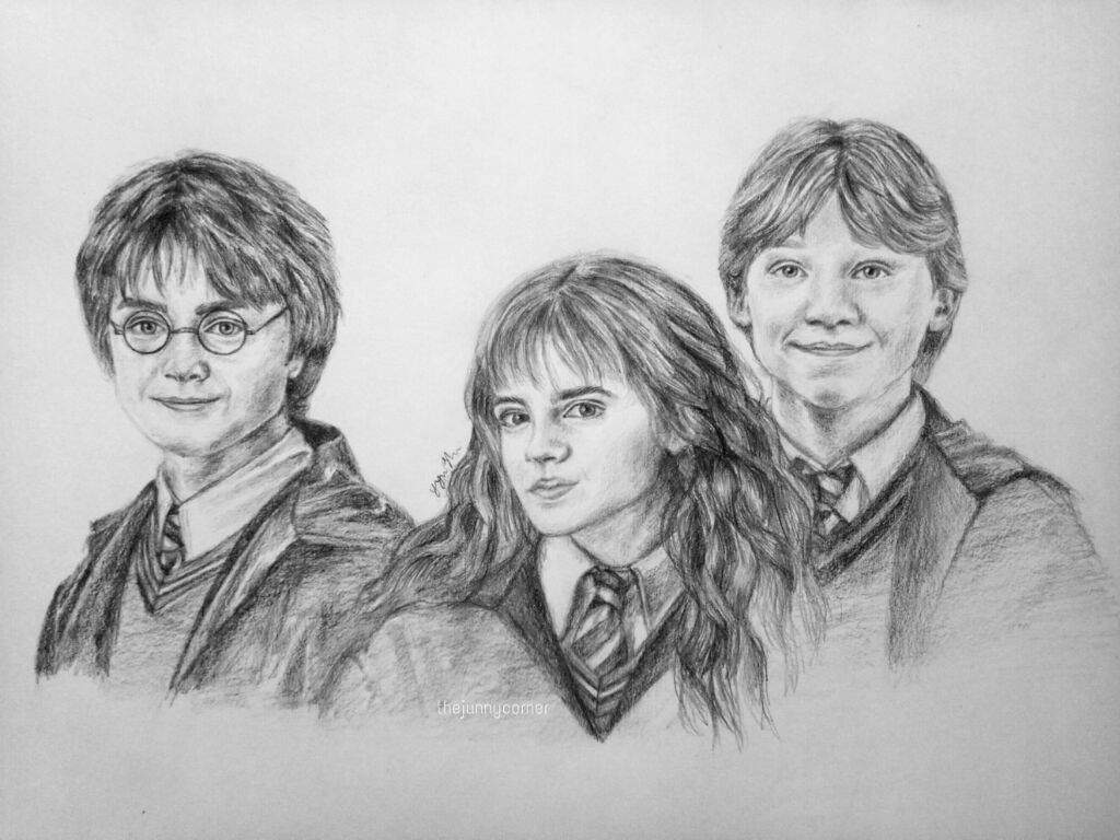 The Golden Trio Drawing