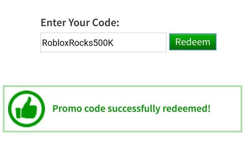 Robux Code Redeem