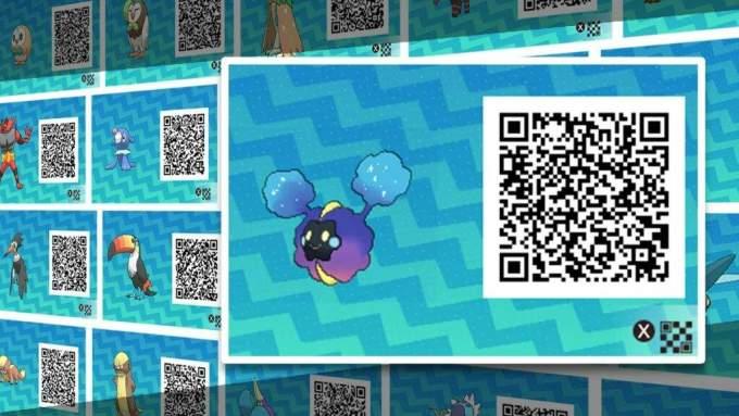 pokemon ultra sun list of qr codes