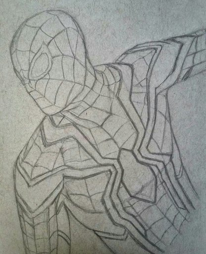 Spider Man Poses Drawing