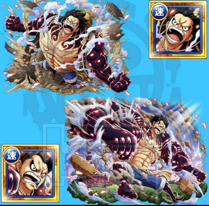 Snakeman straw hat pirates captain in his new gear four form shown during his battle with katakuri. One Piece Wallpaper One Piece Treasure Cruise Luffy Gear 4 V2